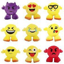 Smiley Emoji Design Filled Plush Cushion With Legs (10 Designs)