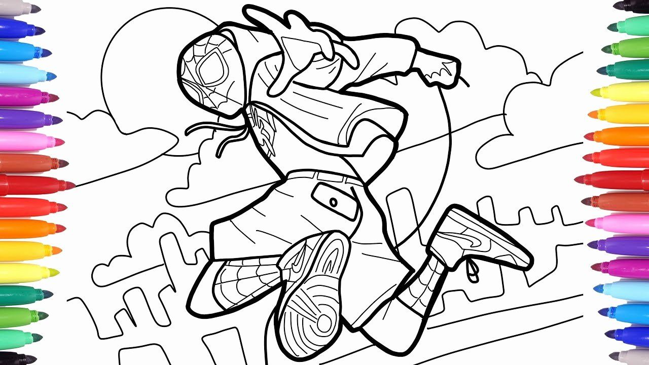 Coloring Pages Spider Man Into The Spider Verse Designs Trend