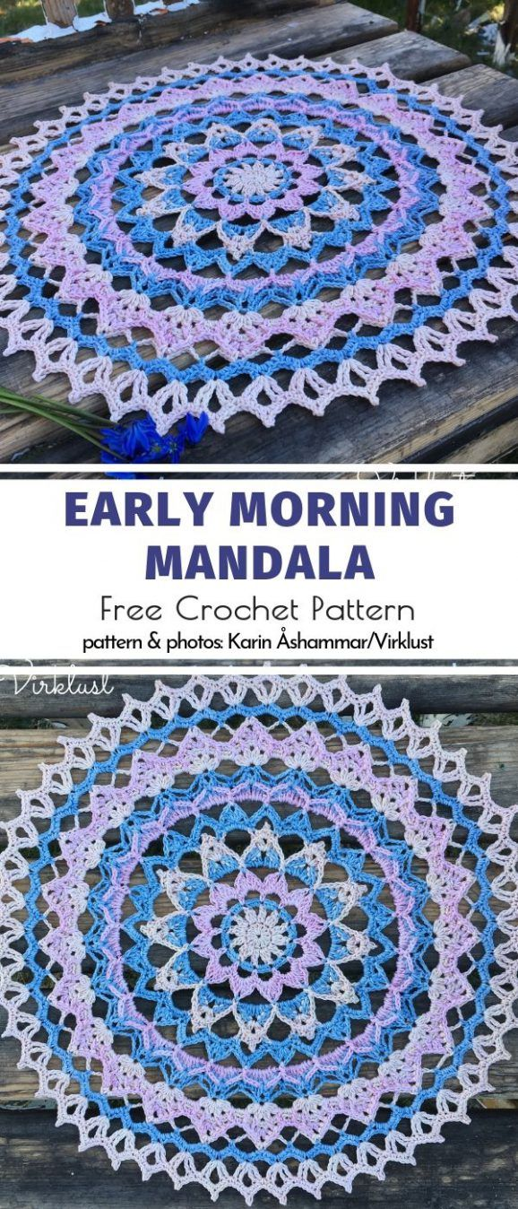 Happy Crochet Mandalas Free Patterns is part of Crochet, Crochet mandala, Crochet patterns, Crochet stitches tutorial, Crochet doilies, Crochet mandala pattern - Bring some happiness to your home with a little bit of color! Today's collection of Happy Crochet Mandalas should give you enough inspiration to create one for yourself  These intricate crochet beauties are very symmetrical and detailed  Making them requires some skills in stitches and keeping the right tension, but
