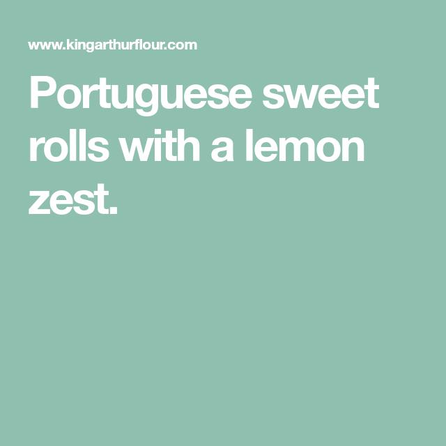 Portuguese Sweet Rolls With A Lemon Zest.