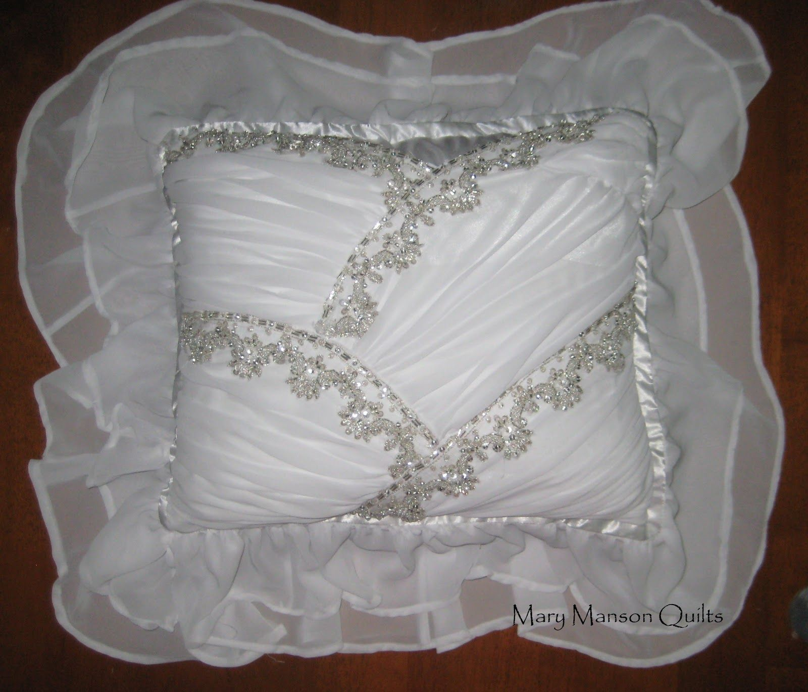 Wedding dress pillow for jennifer sewing pinterest wedding