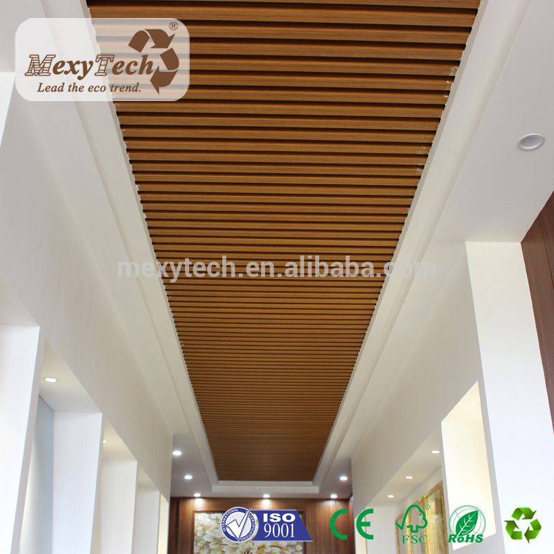 New Design Wpc Material Indoor Composite Wood Ceiling Panel Buy Wpc Ceiling Ceiling Pan Pvc Ceiling Design Wooden Ceiling Design Bedroom False Ceiling Design