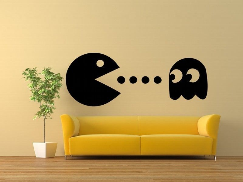 Perfect Charming Bookcase Inspired Like The Pac Man Game : Pac Man Bookcase Bright  Yellow Case Wall Mounted Flat Tv Loudspeaker Set Decorative Plat Tangerine  Wooden ... Images
