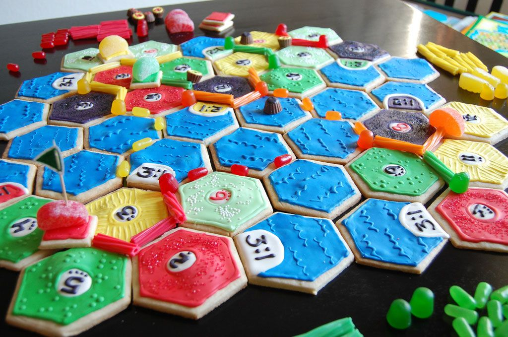 edible settlers of catan from sweet and geek BOARD GAMES