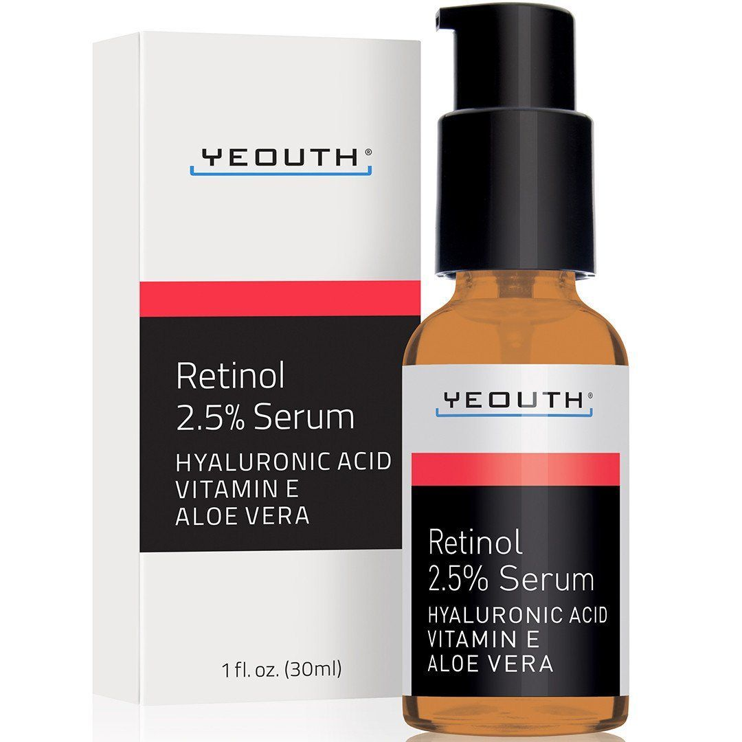 Retinol serum with hyaluronic acid vitamin e and aloe vera