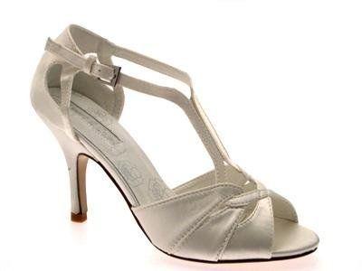 Womens T Bar Glitter Satin Stry Stiletto High Heels Bridal Prom