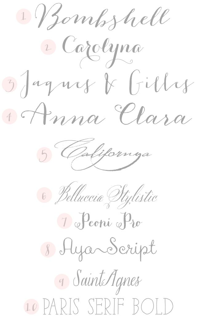 Calligraphy Fonts on Pinterest | Handwritten Fonts ...