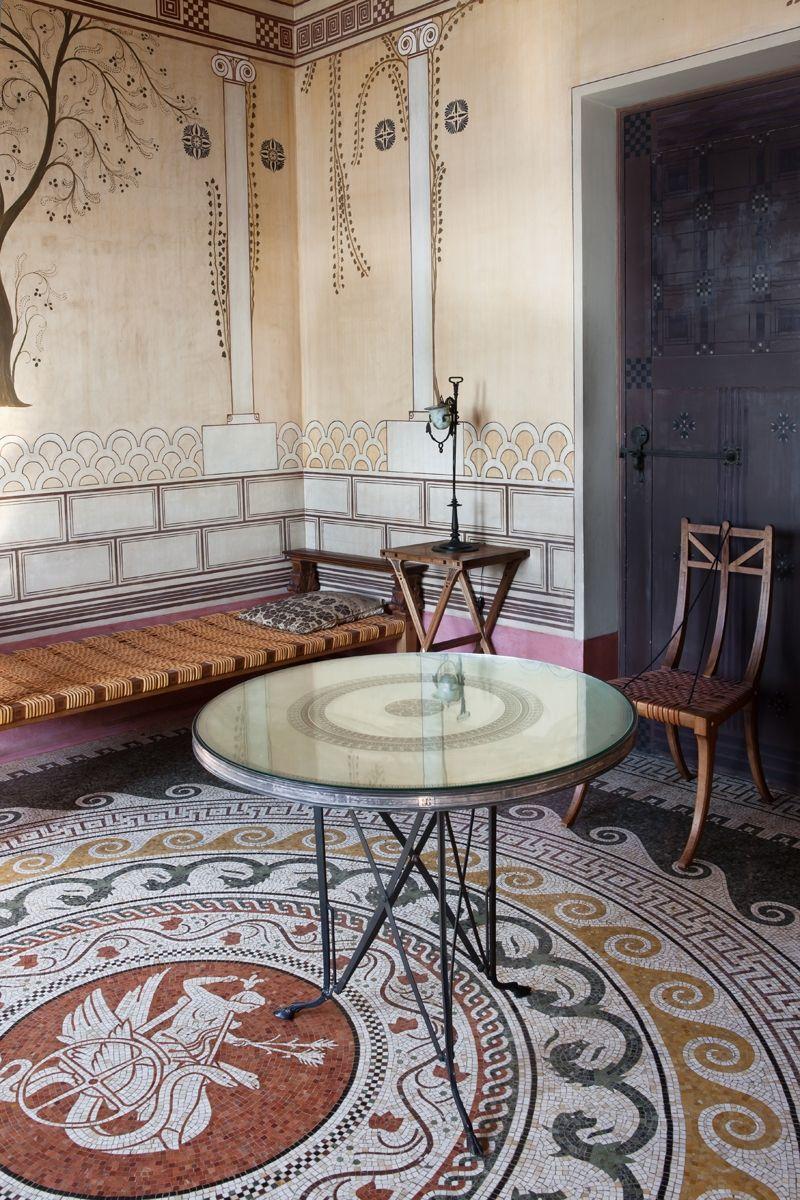 villa grecque k rylos palais antique de la c te d 39 azur. Black Bedroom Furniture Sets. Home Design Ideas