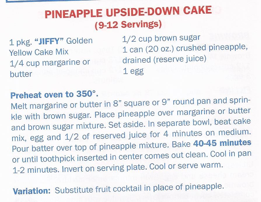 Recipes using jiffy yellow cake mix