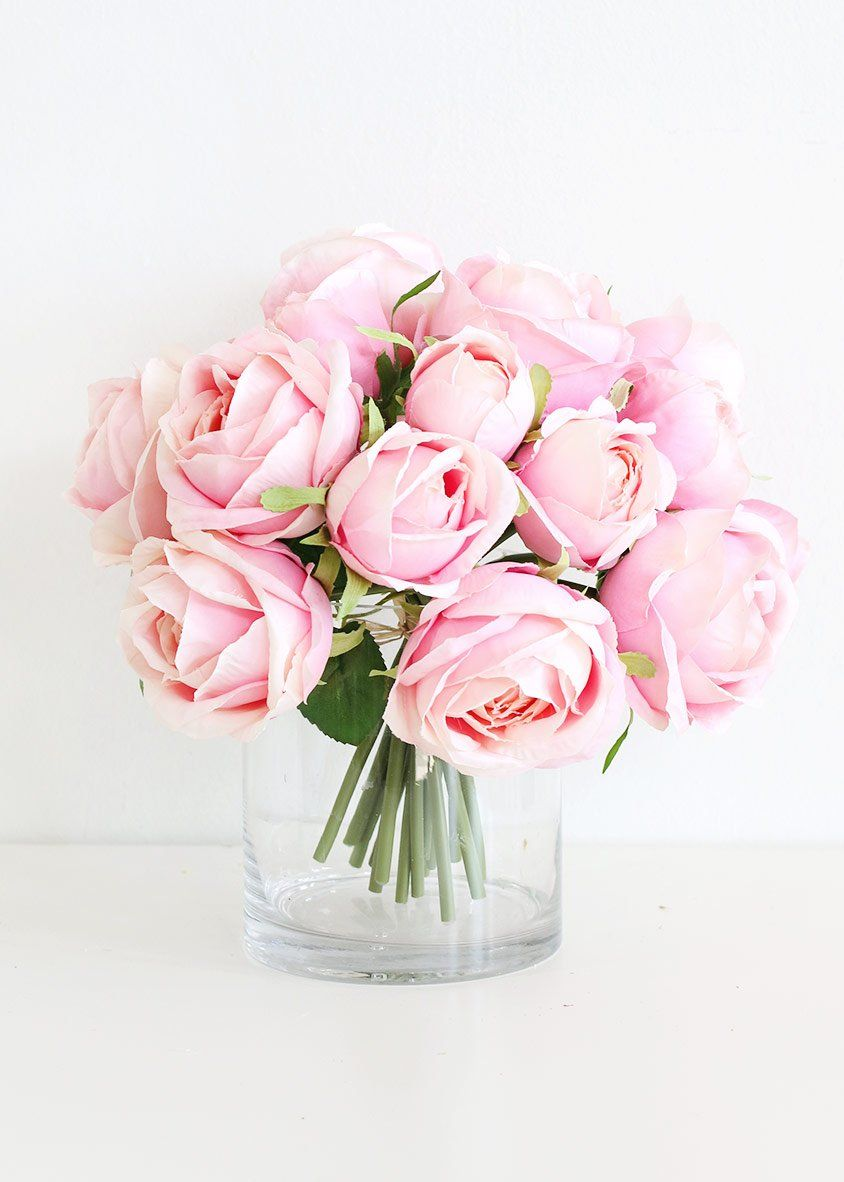 Pink Rose Bouquet Shop Pink Artificial Wedding Bouquets For Your Bridesmaids At Flower Bouquet Wedding Cheap Wedding Flowers Pink Flower Arrangements