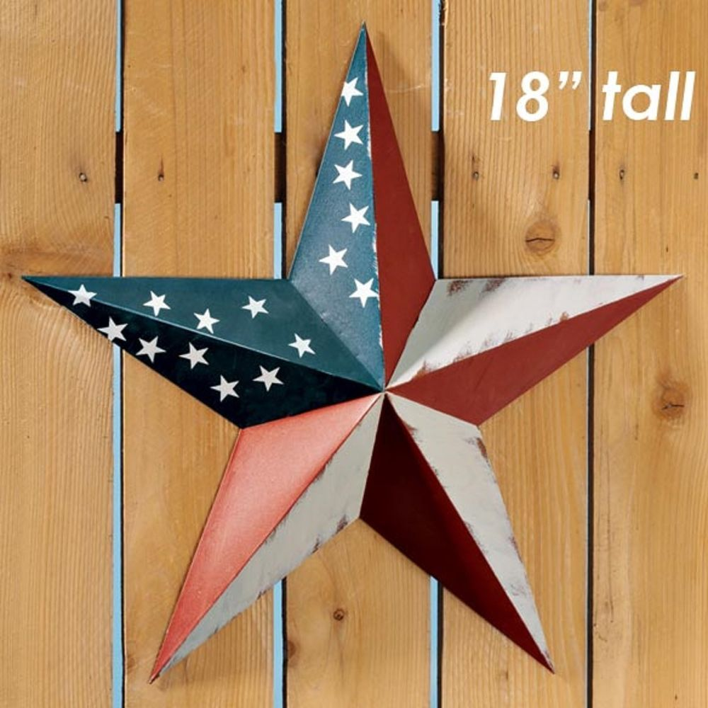 Rustic july th star flag emblem large