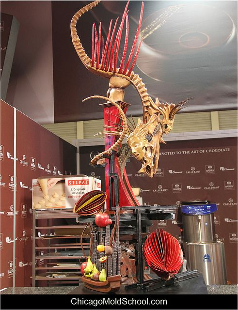 World Chocolate Masters - Japan's impressive chocolate showpiece - The Chicago School of Mold Making #chocolate #showpiece