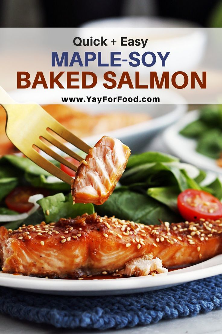 Photo of Maple-Soy Baked Salmon Recipe – Yay! For Food