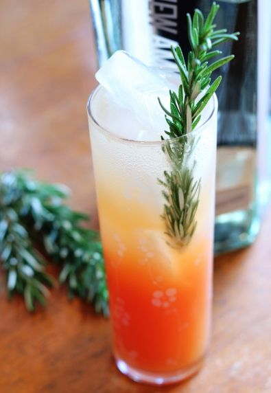 Blood Orange Rosemary Fizz - gonna try this one ~