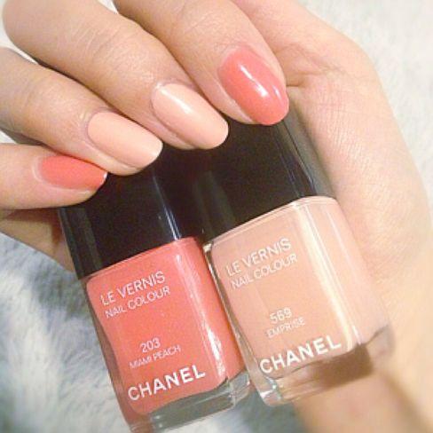 mariaネイル♡最近はもっぱら自爪でマニキュア派です♡春の広告