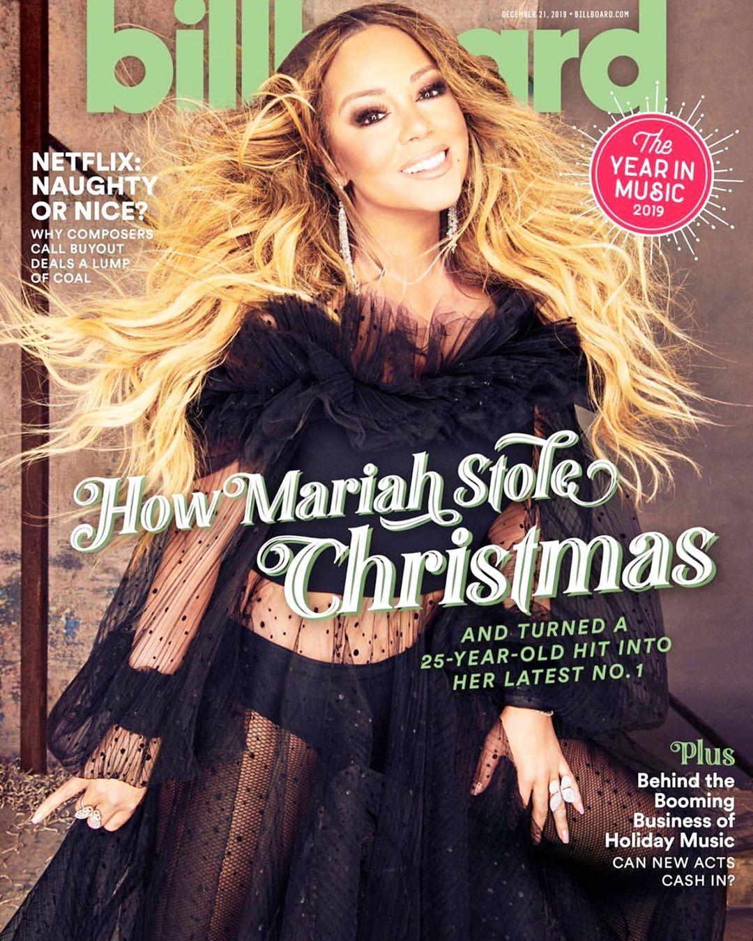 Mariah Carey Billboard Magazine Christmas Alliwantforchristmas Music Blackgirlmagic Blackgirlsrock In 2020 Mariah Carey Mariah Billboard Magazine