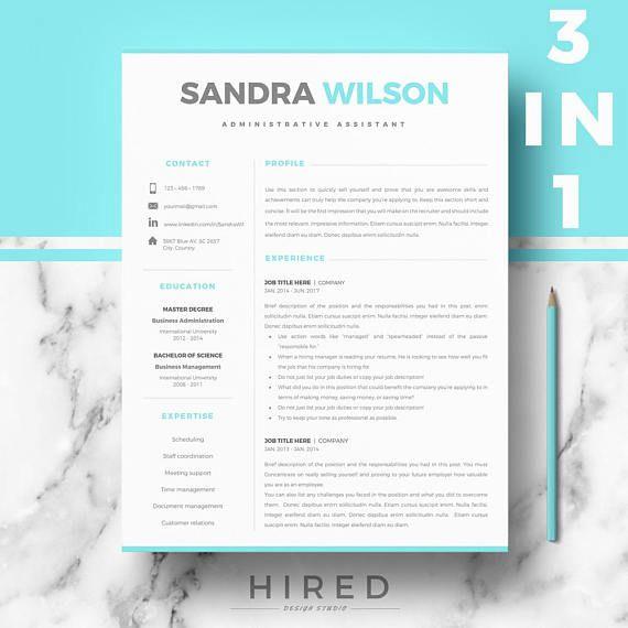 Professional Resume Cv Template  Modern Resume Cv Design
