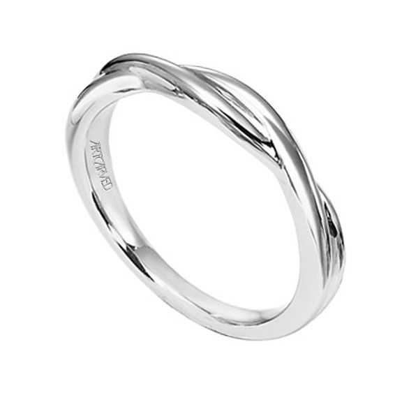 Love Simplicity Women White Gold Wedding Bands For