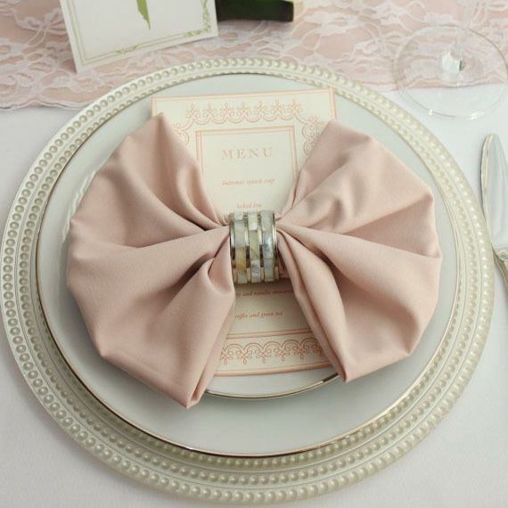 Beautiful 20 inch Blush Napkins 12/Pack SI81