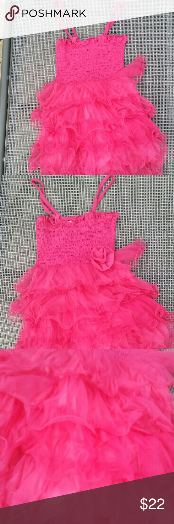 Lowest price donating monday hot pink tulle dress nwt pink tulle