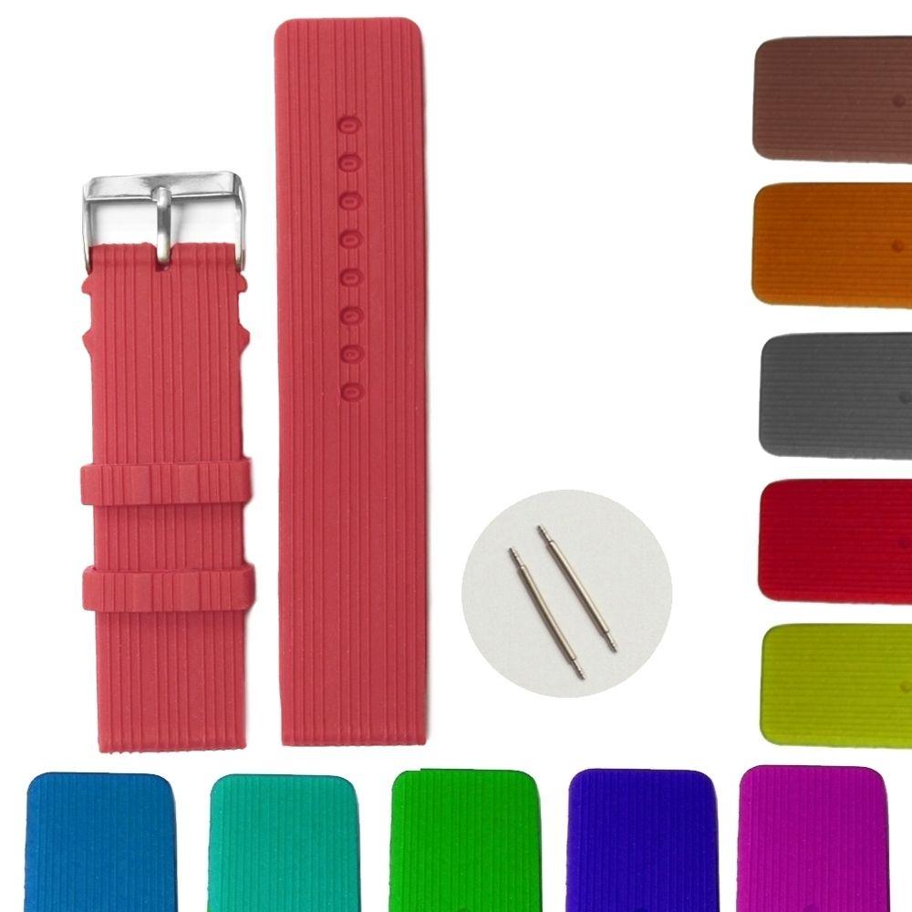 24mm D   39 Purpurová farba Silikónové Jelly Guma dámske hodinky kapela  popruhy WB1071M24JB 0eec98eb2ad