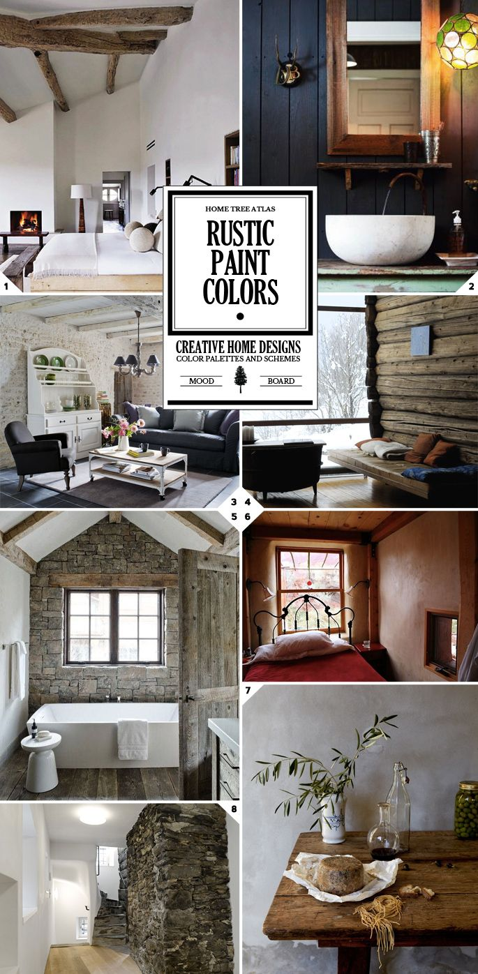 Rustic Paint Colors and Textured Wall Designs Recipes