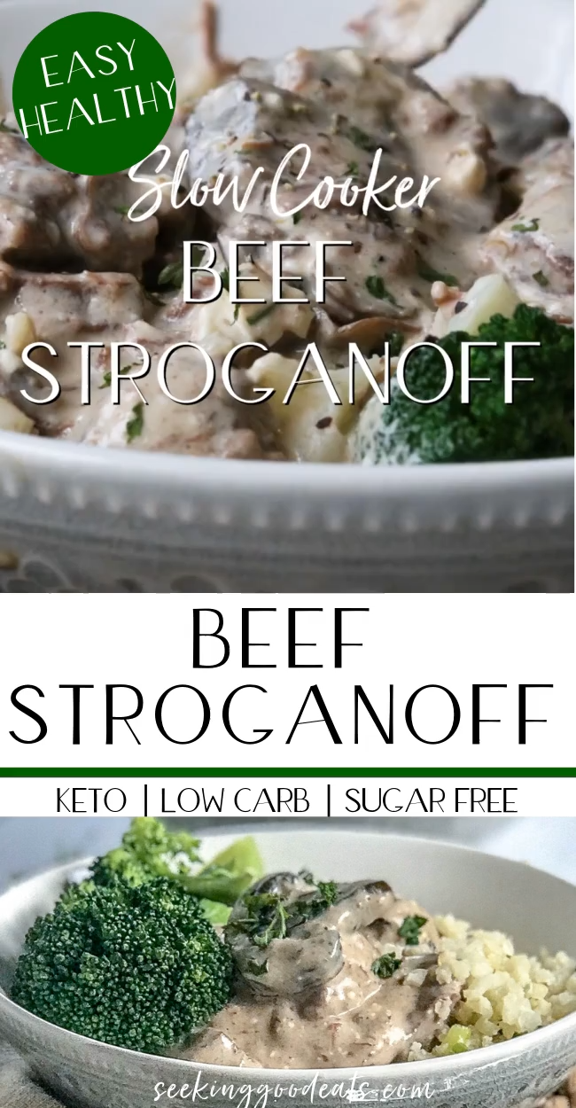 Photo of Slow Cooker Beef Stroganoff (Low Carb & Keto)