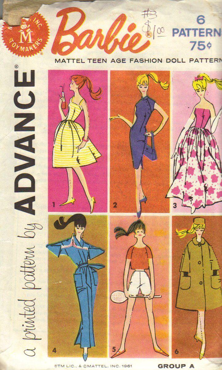 Doll Clothes Pattern 3429 Barbie Honey West Wonder Woman Annette Batgirl Stacey