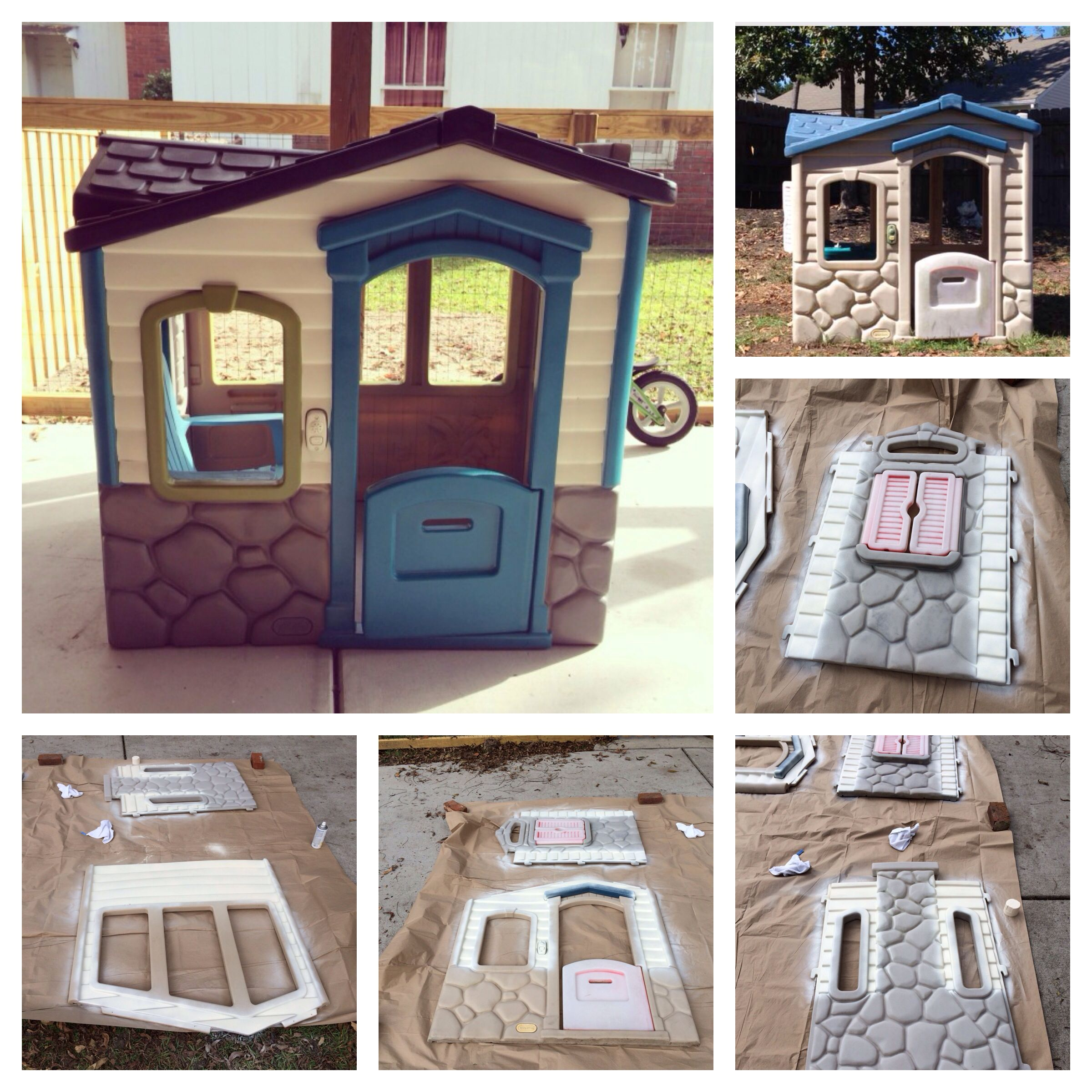My little tikes playhouse transformation Rustoleum 2X spray paint