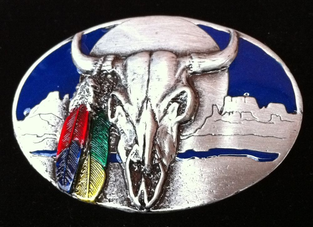 Western Texas Longhorns Cowboy Men's Rodeo Belt Buckle #CoolBuckles #texaslonghorn #longhorns #steer #western #westernbeltbuckle #westenbuckle #beltbuckle