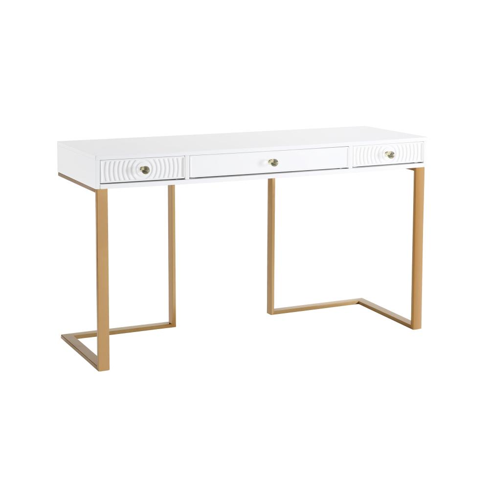 Janie White Lacquer Desk Tov Furniture In 2020 White Lacquer Desk Desk With Drawers Furniture