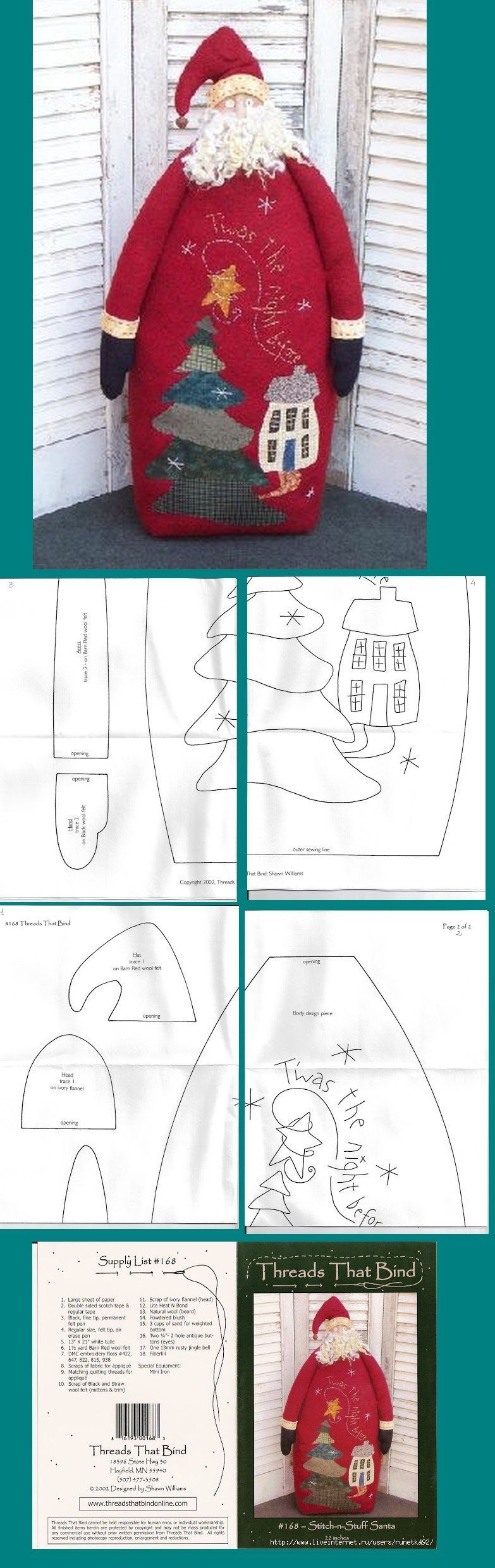 Pin di filomena lubrano su idee per la casa pinterest - Babbo natale modello artigianale ...