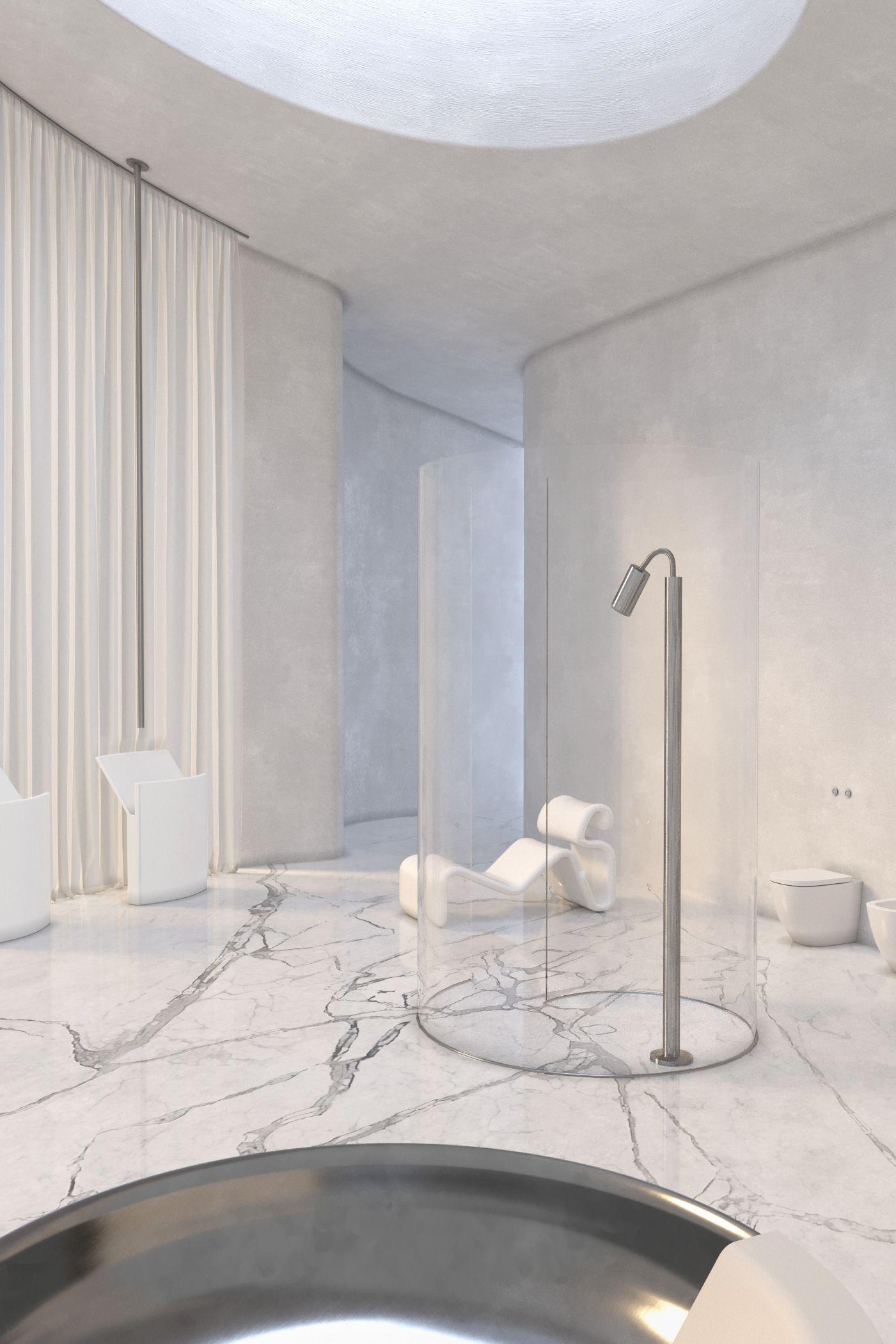 The Kyiv-based interior design studio Rina Lovko Studio led by Ukranian architect and designer Rina Lovko has designed