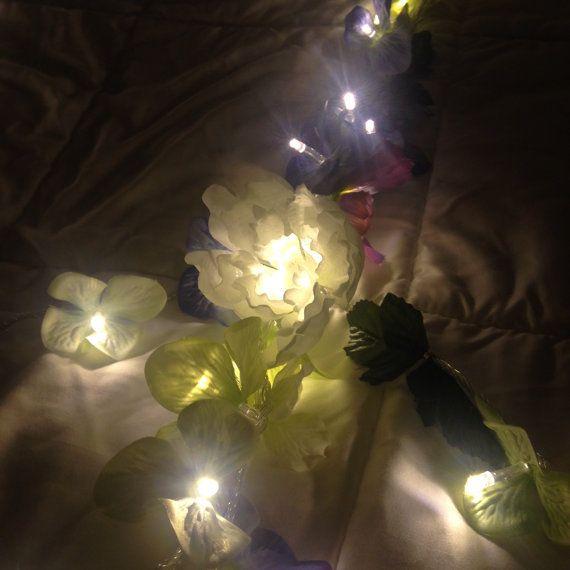 Fairy Lights Bedroom / Flower Garland / String Lights / Dorm Lights /  Nursery Lights / Flower Lights / Wedding Lights