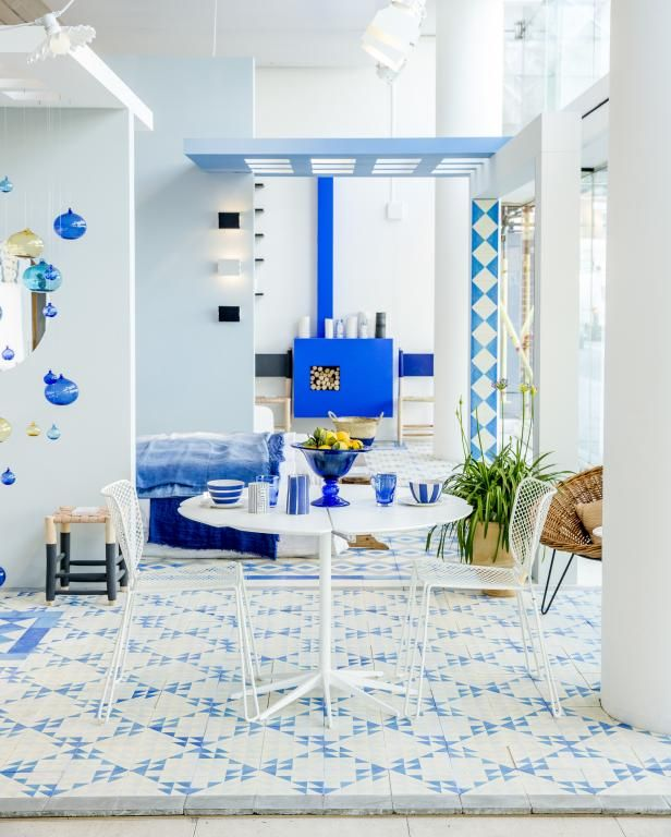 Blue And White Floor Tile Idea By Reclaimed Tile White Tile Floor White Floors Reclaimed Tile