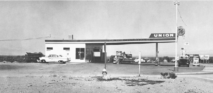 Ed Ruscha, Union, Needles, California from Ed Ruscha's artist book Twentysix Gasoline Stations (1962)