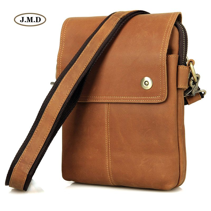 eb285956bba Cheap bags with, Buy Quality sling bag men directly from China sling bag  Suppliers  JMD Vintage Genuine Cow Leather Brown Sling Bag Men s Messenger  Bags ...
