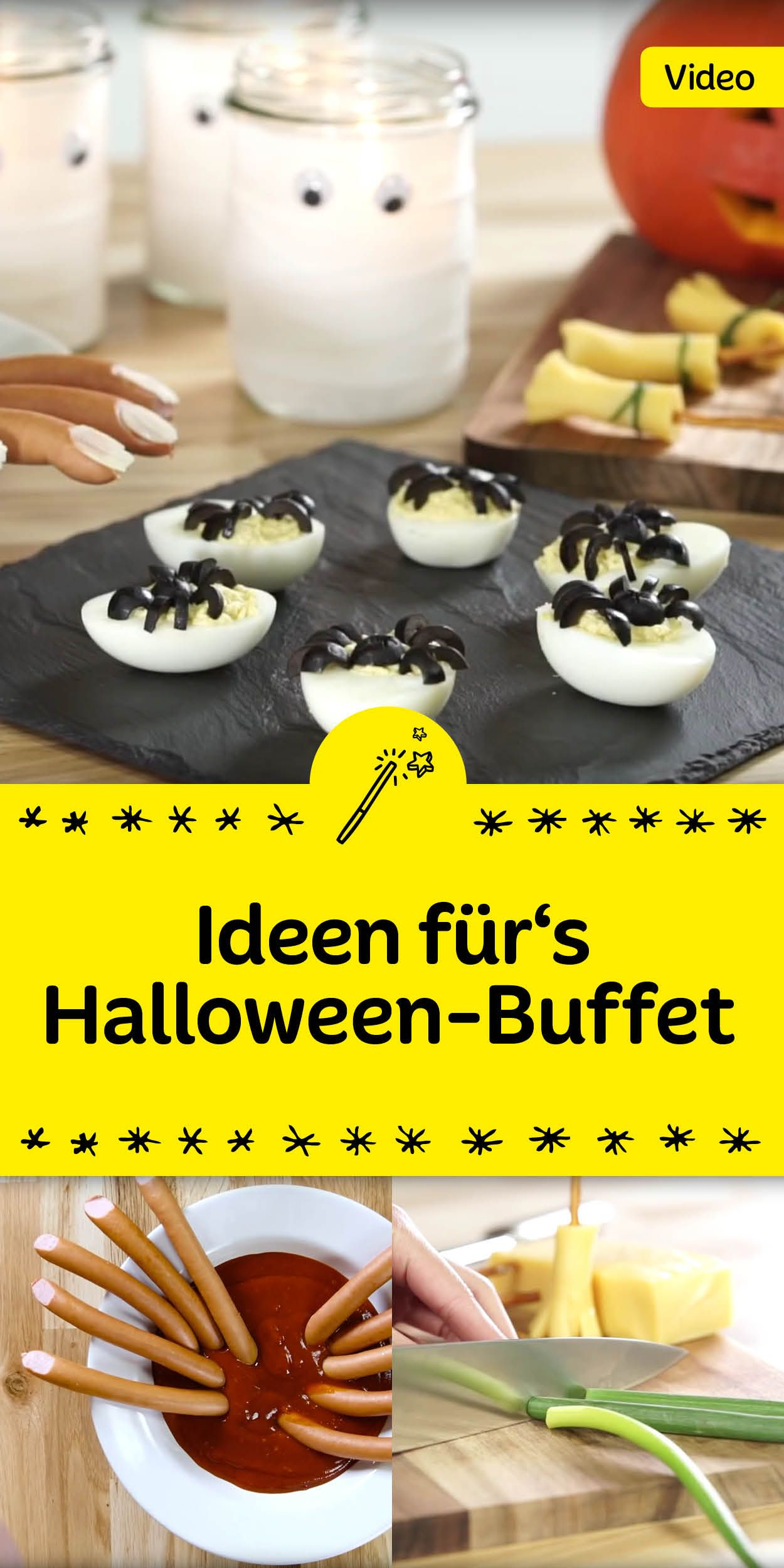 Schauerlich lecker: Unsere Ideen für einköstlich gedecktes Halloween-Buffet.
