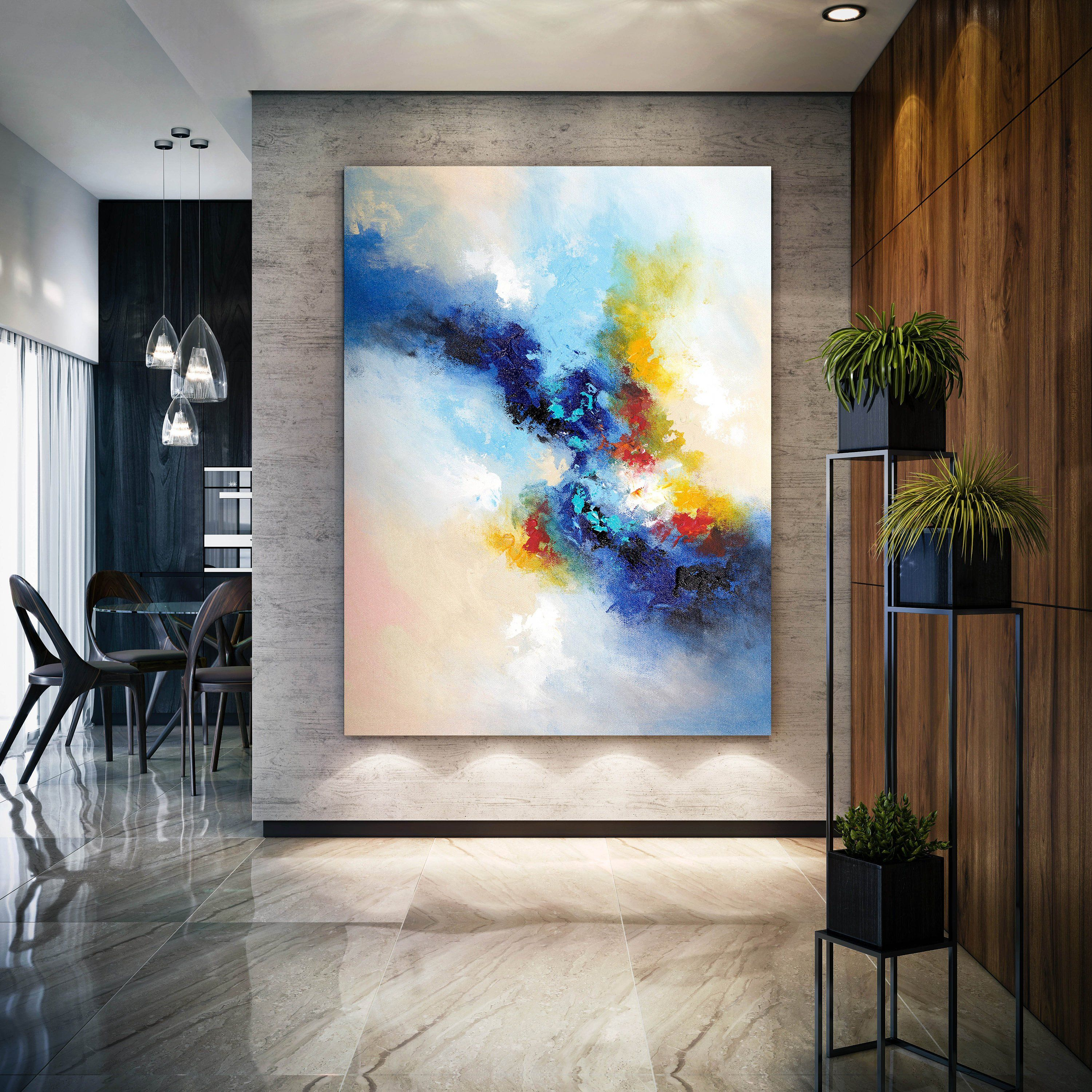 Large Original Artwork Abstract Painting On Canvas Textured