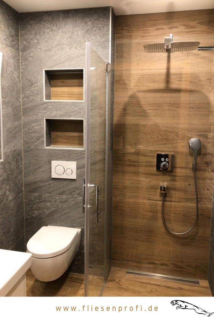 Naturstein Und Holzoptik Fliesen Im Badezimmer Badezimmer In 2020 Small Bathroom Makeover Bathroom Interior Design Cozy Bathroom