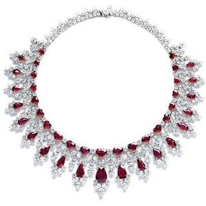 Harry Winston diamond necklace masterpieces for ruby