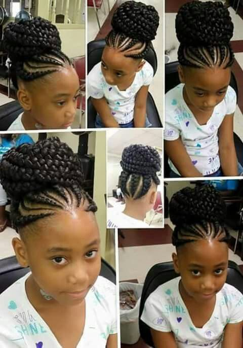 Really Cute Braided Bun Hair Styles Kids Hairstyles Natural Hair Styles