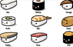 Meowza :: Portfolio - kawaii sushi