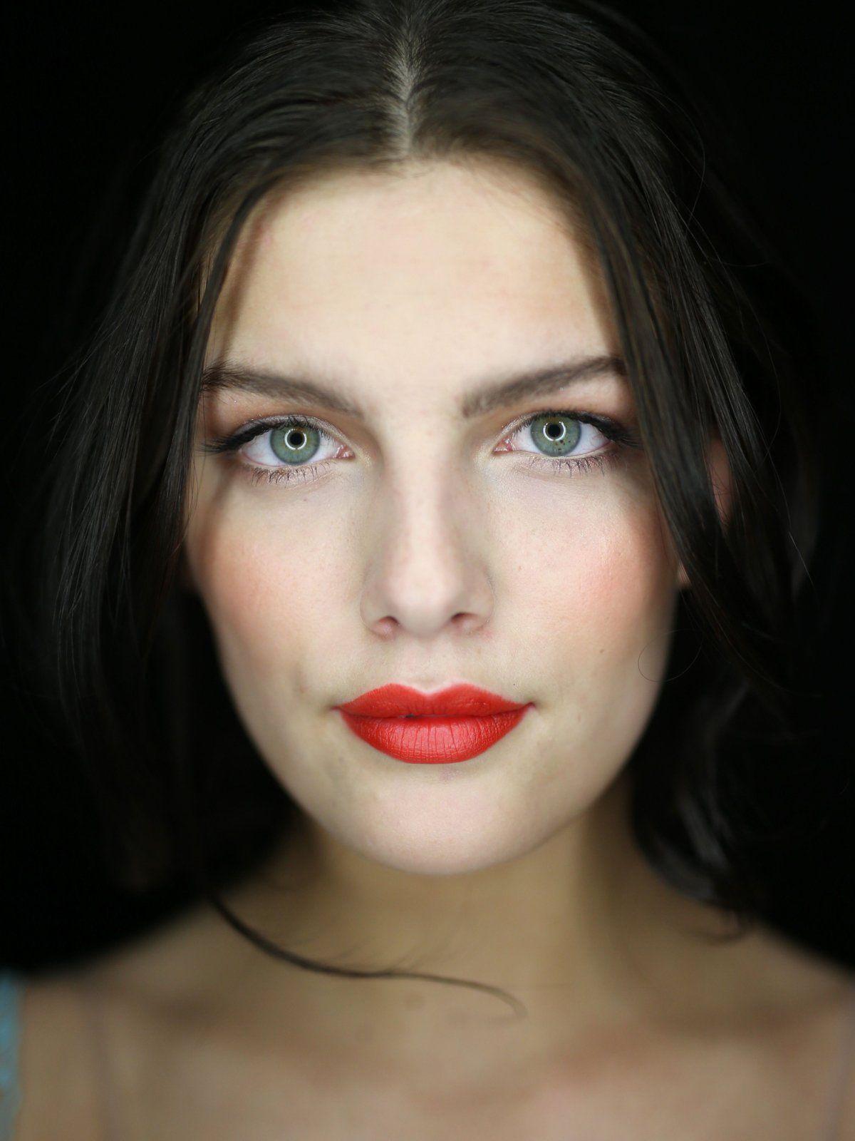 Make-up mit Akzenten in Orange
