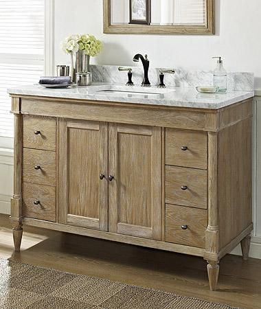 buy fairmont designs 142 v48 vanities in weathered oak finish for less