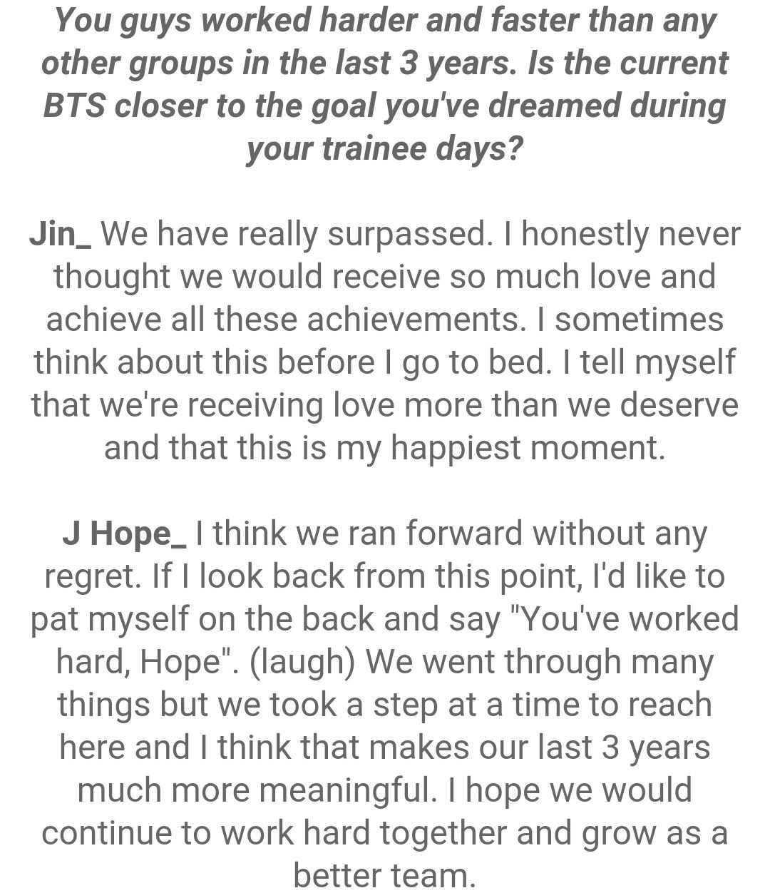 Jin and J-Hope ❤ #BTS #방탄소년단 Interview Questions For STAR1 Magazine Vol.53 ~ August 2016 issue.