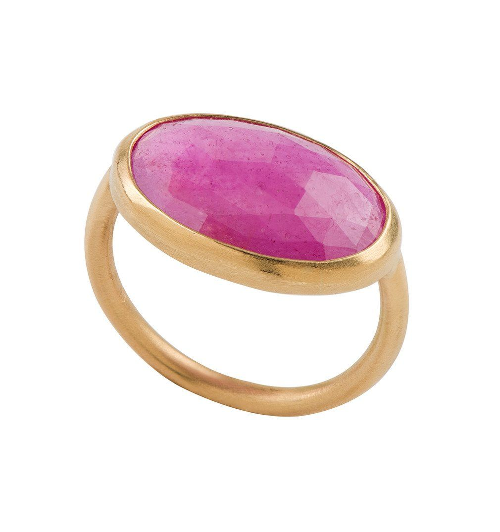 Statement Pink Sapphire Gold Ring   Gold rings, Sapphire and ...