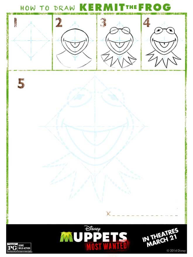 How to Draw the Muppets – with Printable Diagrams How to Draw Kermit ...