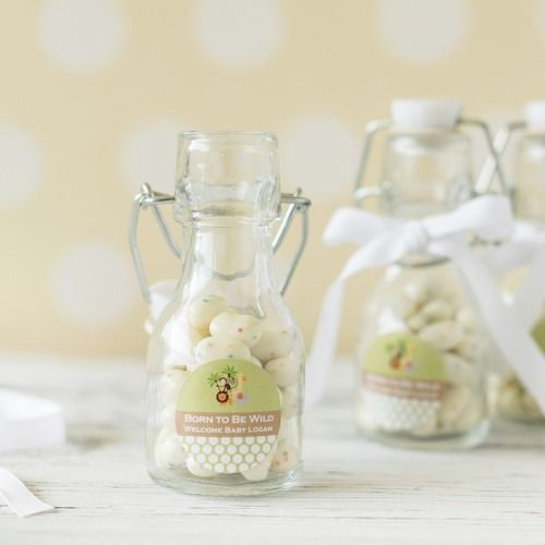 Personalized Baby Shower Mini Glass Bottle Glass Bottle