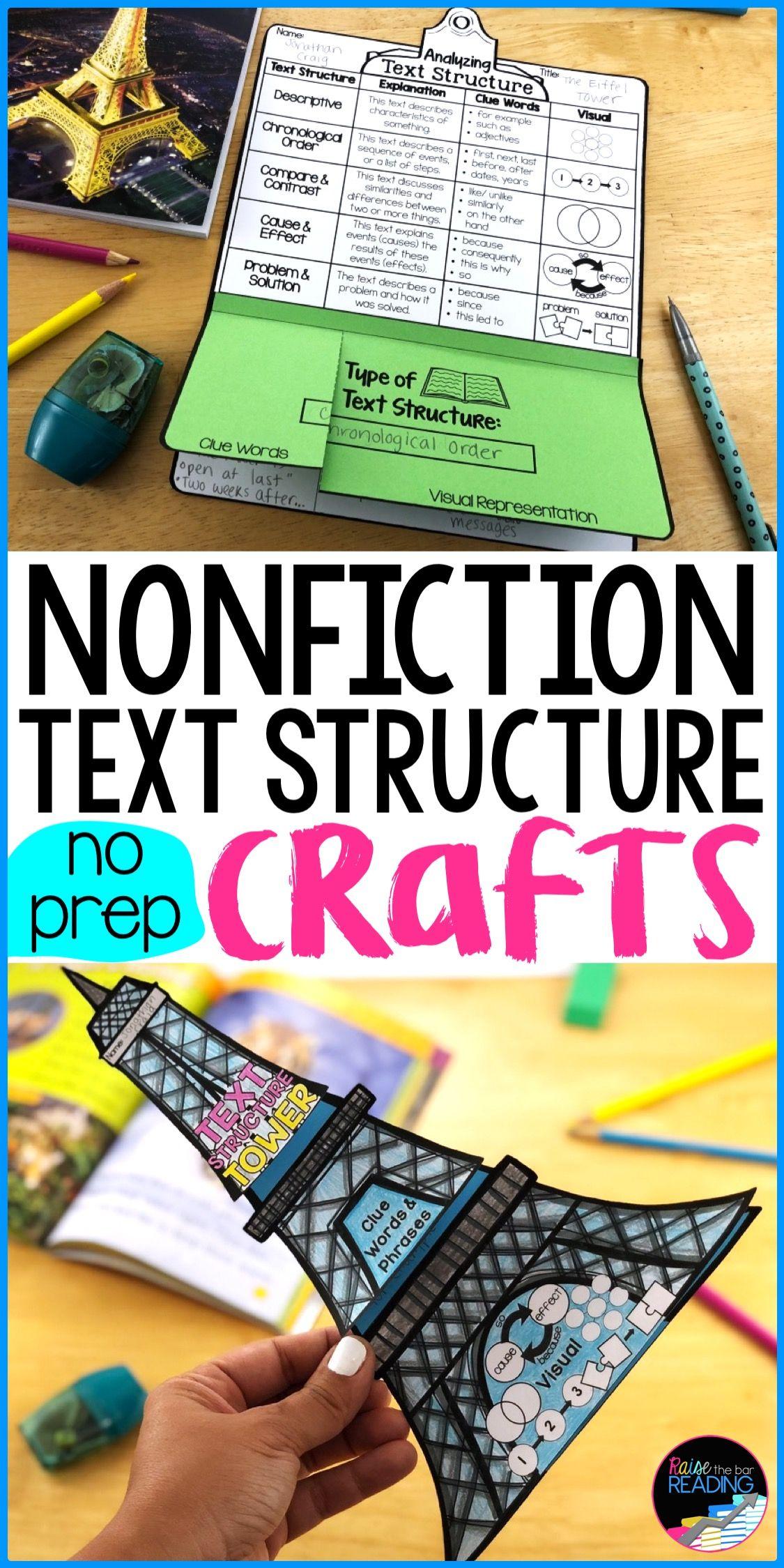 Nonfiction Reading Crafts Set 5: Nonfiction Text Structure Activities    Nonfiction text structure [ 2249 x 1125 Pixel ]